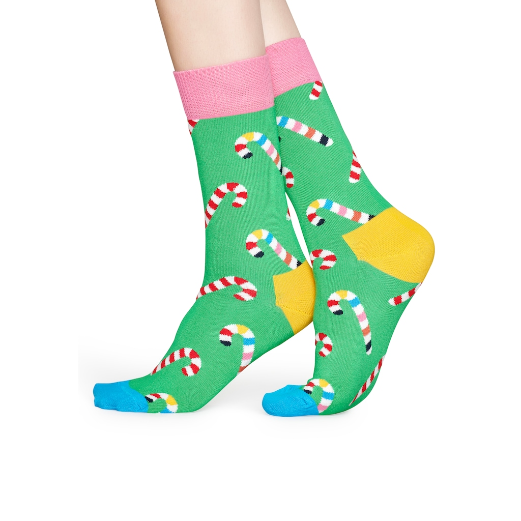 Happy Socks Socken »Candy Cane«, mit bunten Zuckerstangen