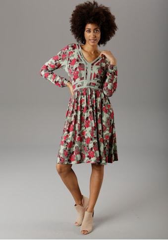 Aniston SELECTED Jerseykleid, mit Häkelverzierung - NEUE KOLLEKTION kaufen