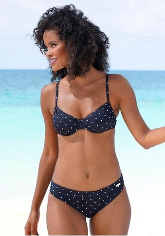LASCANA Bikini-Hose »Sparkel«, mit Umschlagbund und Tupfenmuster kaufen