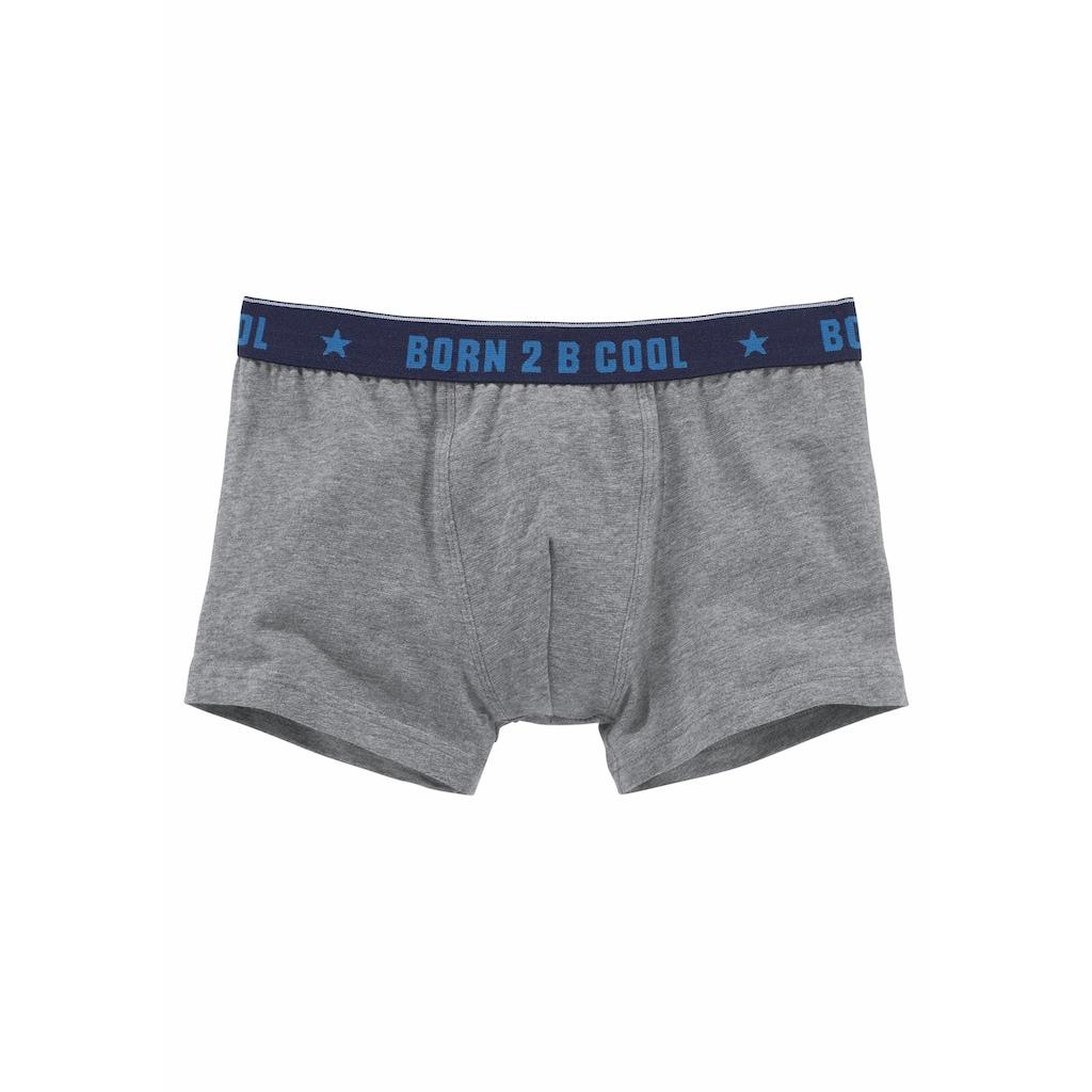 """AUTHENTIC UNDERWEAR Boxer, (3 St.), mit """"born 2 B cool"""" Bund"""