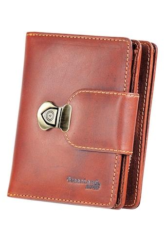 GreenLand Nature Geldbörse »Rubin«, aus Leder mit Schnappverschluss kaufen