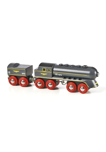 BRIO® Spielzeugeisenbahn-Lokomotive »BRIO® WORLD Schwarzer Kugelblitz mit Kohlentender« kaufen