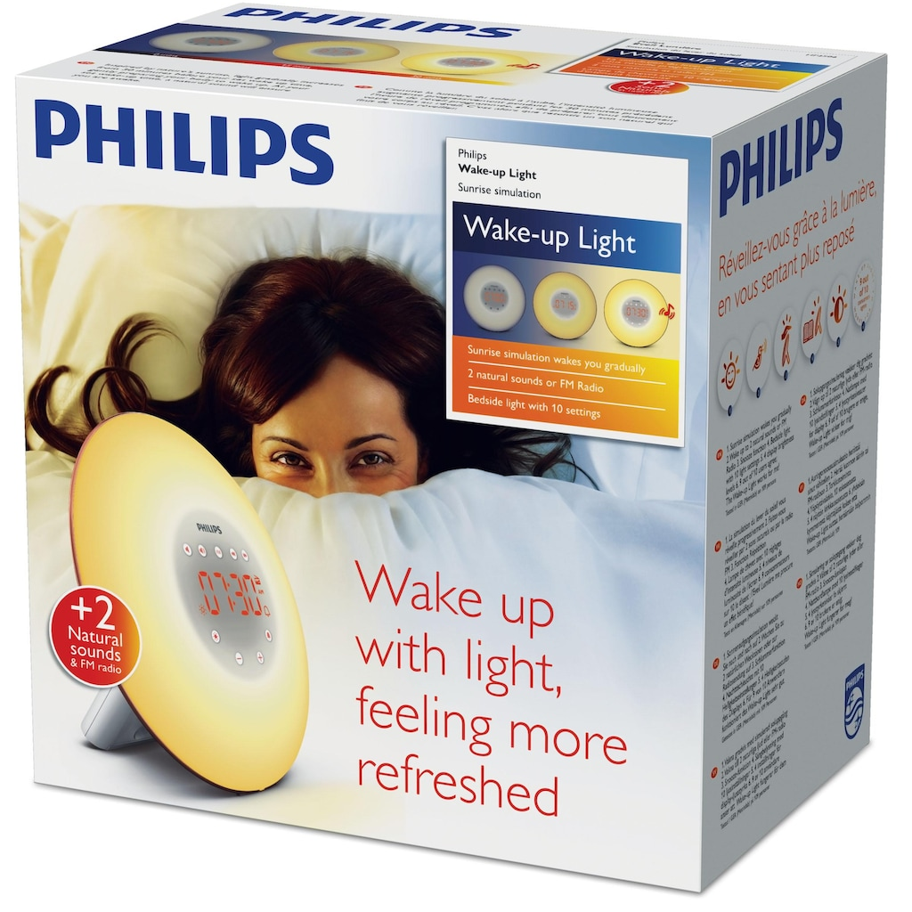 Philips Tageslichtwecker »HF3506/50 Wake Up Light«, Aufwachen mit Licht und natürlichen Tönen
