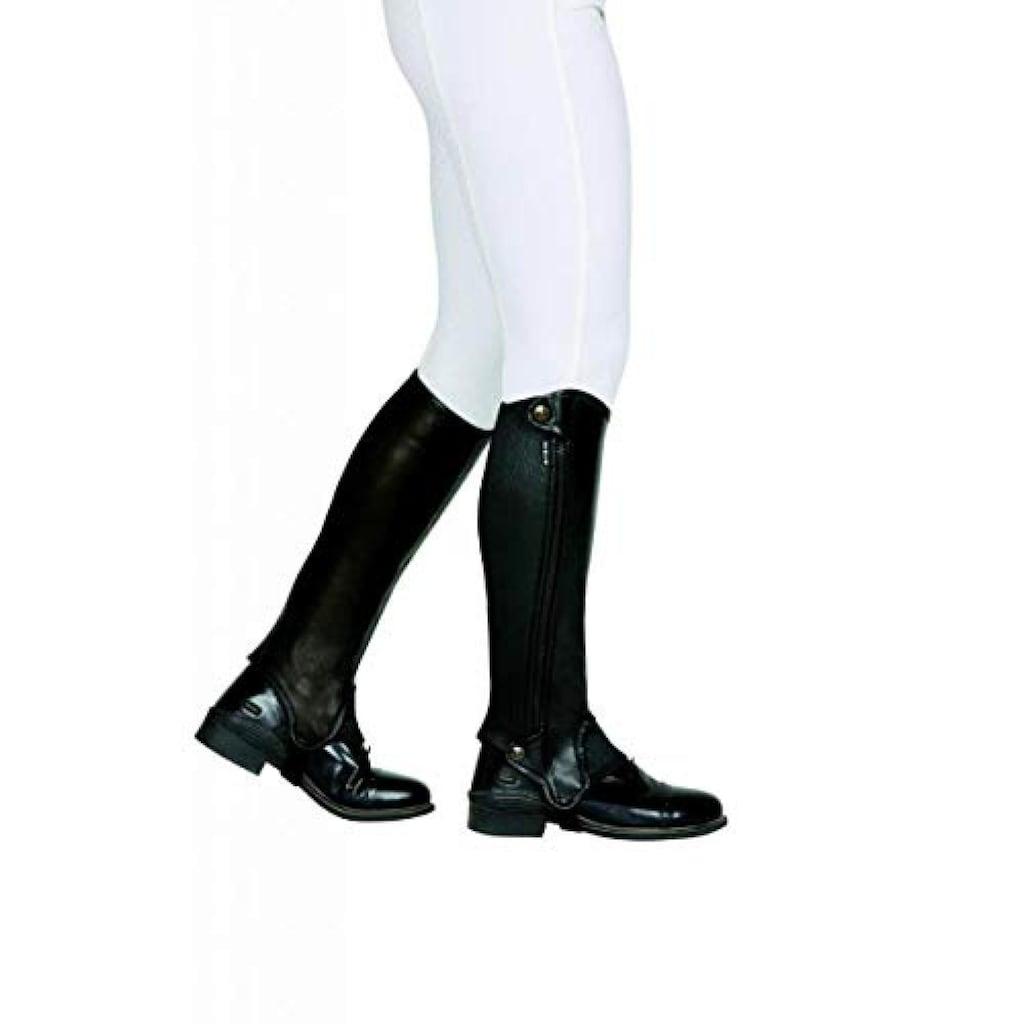 Dublin Beinstulpen »Evolution Halblange Leder-Chaps mit seitlichem Reissverschluss, für Erwachsene«