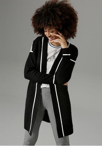 Aniston SELECTED Longstrickjacke, mit kontrastfarbenen Streifen - NEUE KOLLEKTION kaufen