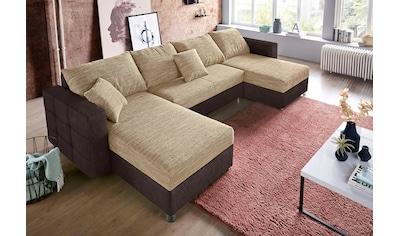 sit&more Wohnlandschaft, inklusive Bettfunktion und Bettkasten, Recamiere beidseitig... kaufen