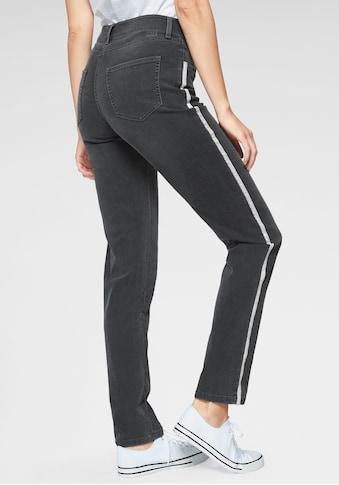 MAC Stretch-Jeans »Melanie-Glitter-Galloon«, Glitzer-Galon an auf den Seitennähten kaufen