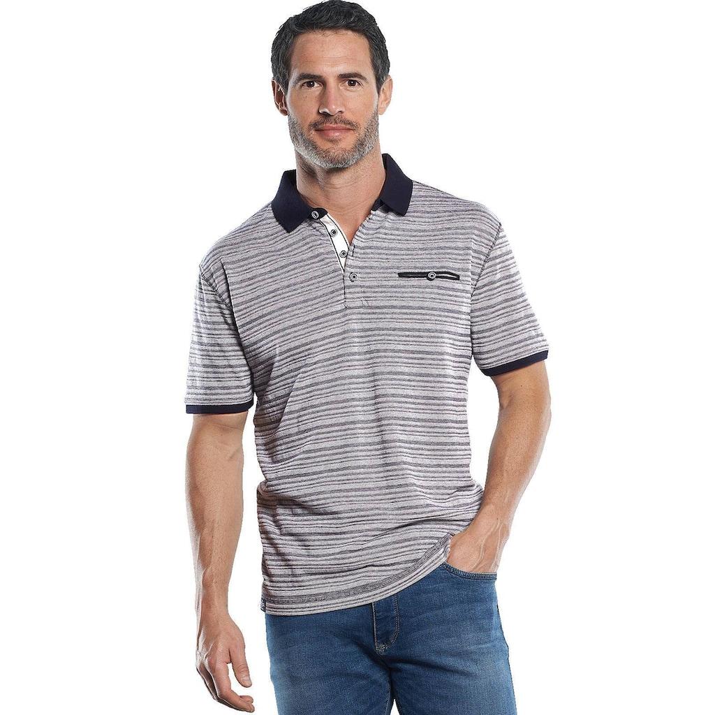 Engbers Sportives Poloshirt mit hochwertigen Strukturstreifen