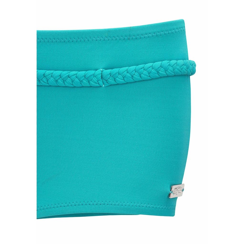 Buffalo Bikini-Hotpants »Happy«, mit geflochtenem Ziergürtel