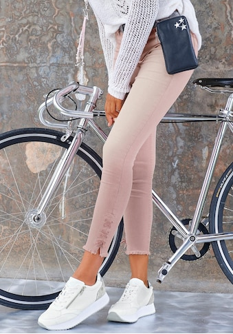 LASCANA Jeggings, mit Schnürung am Beinsaum kaufen