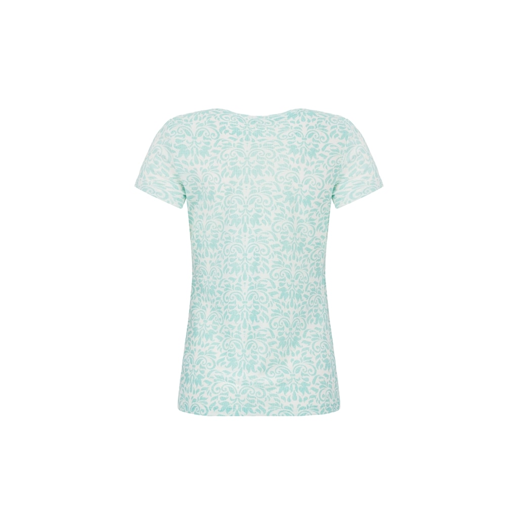 SUPER.NATURAL T-Shirt »W BASE TEE 140 PRINTED«, pflegeleichter Merino-Materialmix