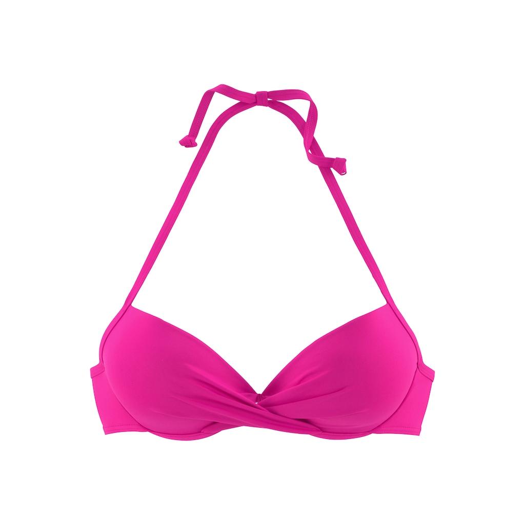 s.Oliver Beachwear Push-Up-Bikini-Top »Spain«, in Wickeloptik