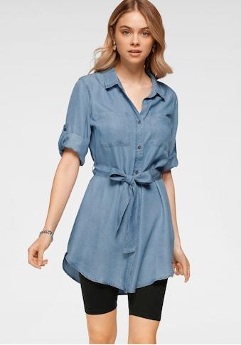 HaILY'S Longbluse, In Jeansblusenoptik kaufen