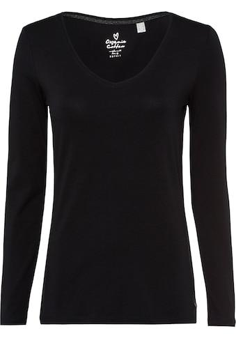 Esprit Langarmshirt, mit modischem V-Ausschnitt kaufen