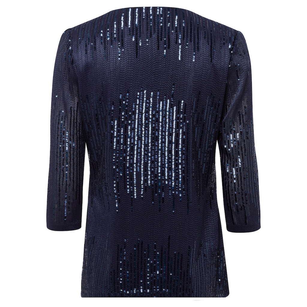 select! By Hermann Lange Rundhalsshirt, elegantes Pailletten-Shirt