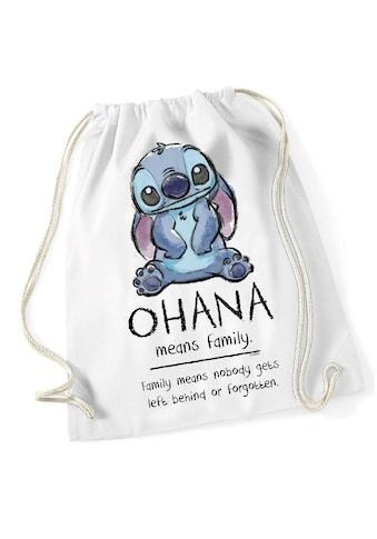 Disney Turnbeutel »Disney Lilo & Stitch Ohana Means Familiy Gym Bag« kaufen