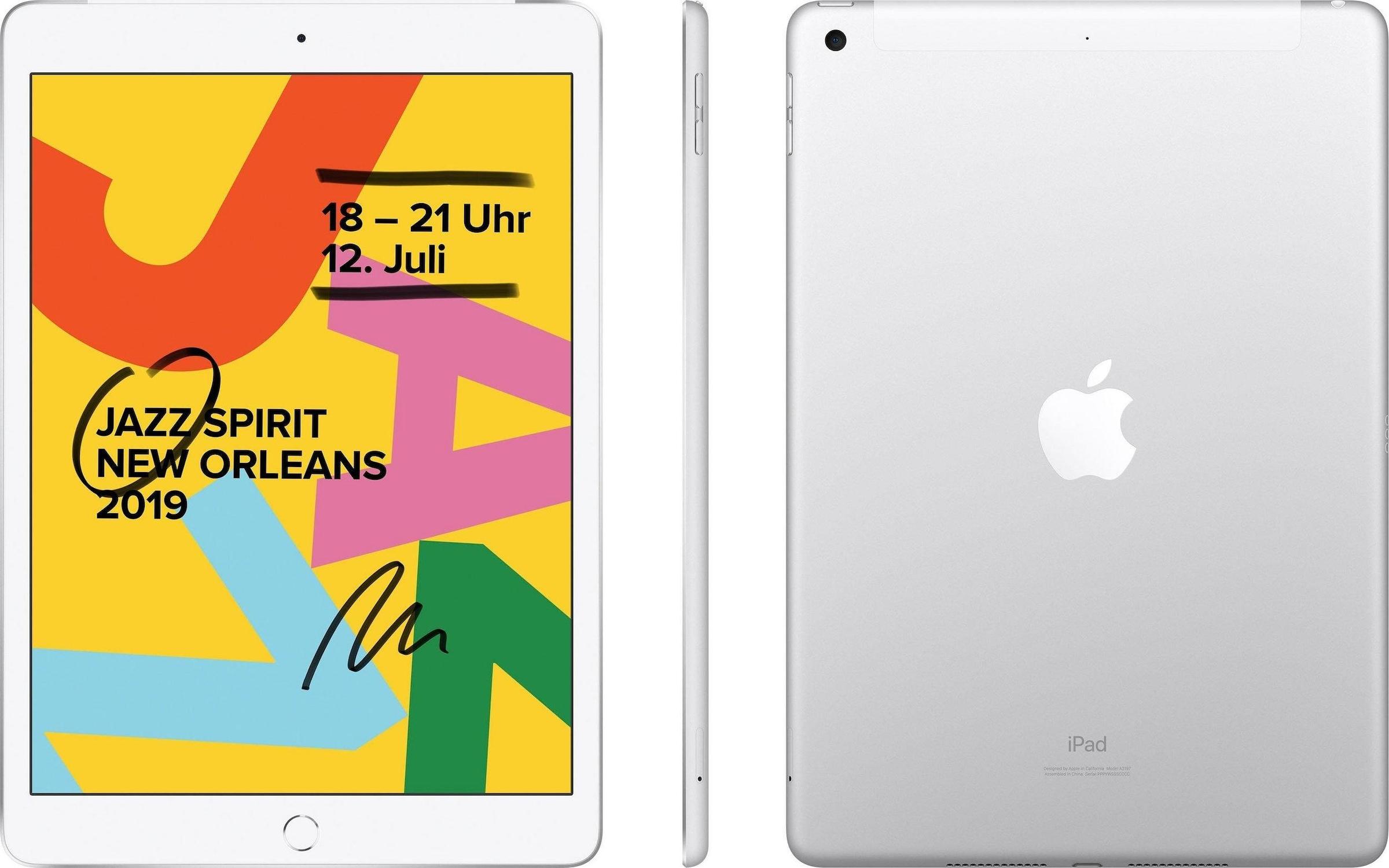Image of 10.2 iPad Wi-Fi Cellular (2019) Tablet (10,2 Zoll, 128 GB, iPadOS, 4G (LTE), Apple