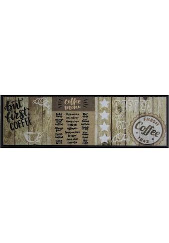 Primaflor-Ideen in Textil Küchenläufer »FIRST COFFEE«, rechteckig, 5 mm Höhe, Motiv... kaufen