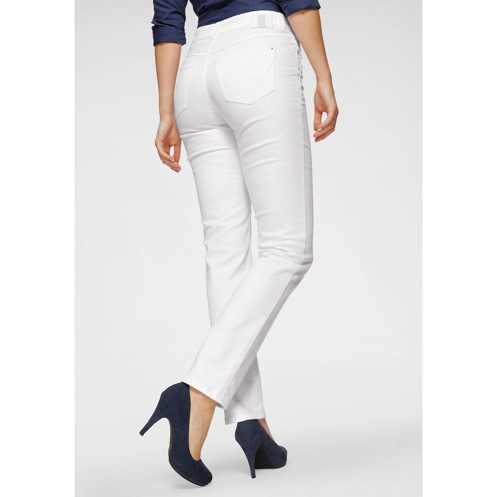 MAC Straight-Jeans »Angela New«, Ziernähte im vorderen Taschenbereich