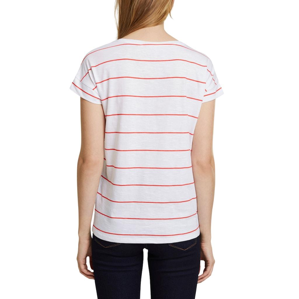 Esprit T-Shirt, mit überschnittener Schulter