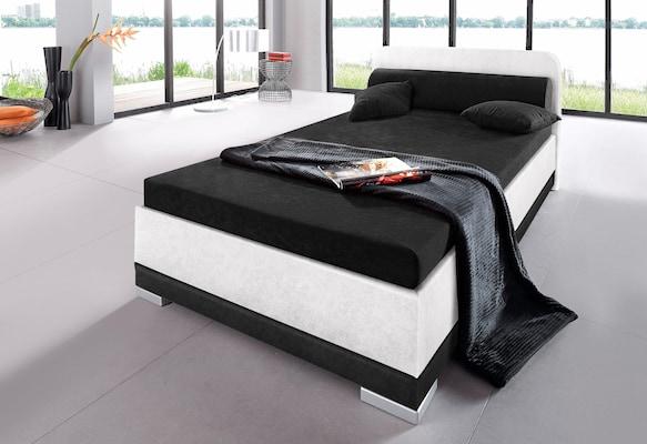 Funktionsbett in Schwarz-Weiß