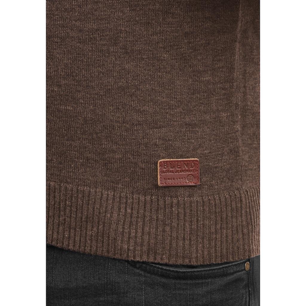Blend Strickpullover »Lasse«, Strickpulli mit aufgestickten Ellenbogenpatches