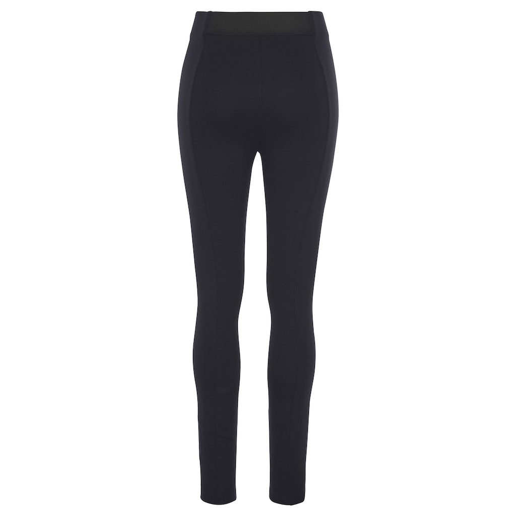 Esprit Stretch-Hose, knöchellange Form und in modischer Highwaist-Optik
