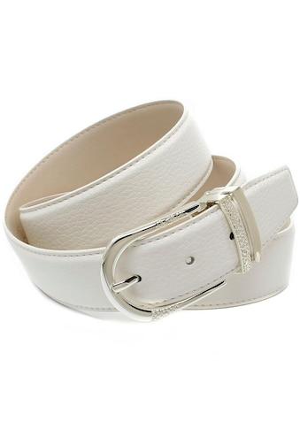 Anthoni Crown Ledergürtel, mit Metallschlaufen im Mustermix kaufen