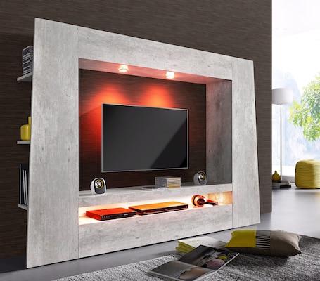 moderne Wohnwand in Grau