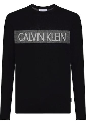 Calvin Klein Rundhalspullover »ALL OVER JACQUARD LOGO SWEATER« kaufen