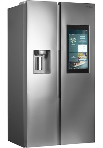 Side by Side, A++, 593 L, Family Hub, Wasser & Eiswürfel, Edelstahl, Samsung, »RS8000« kaufen