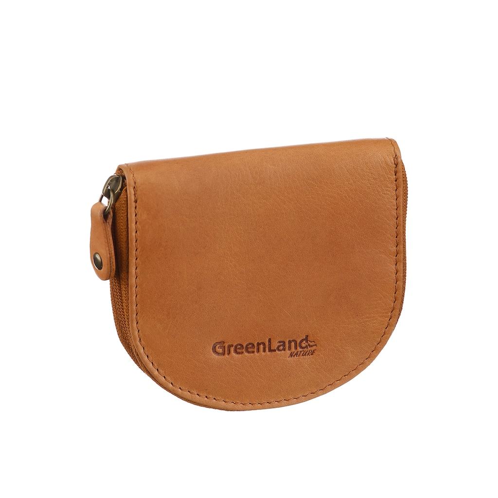 GreenLand Nature Geldbörse, aus hochwertigem Leder