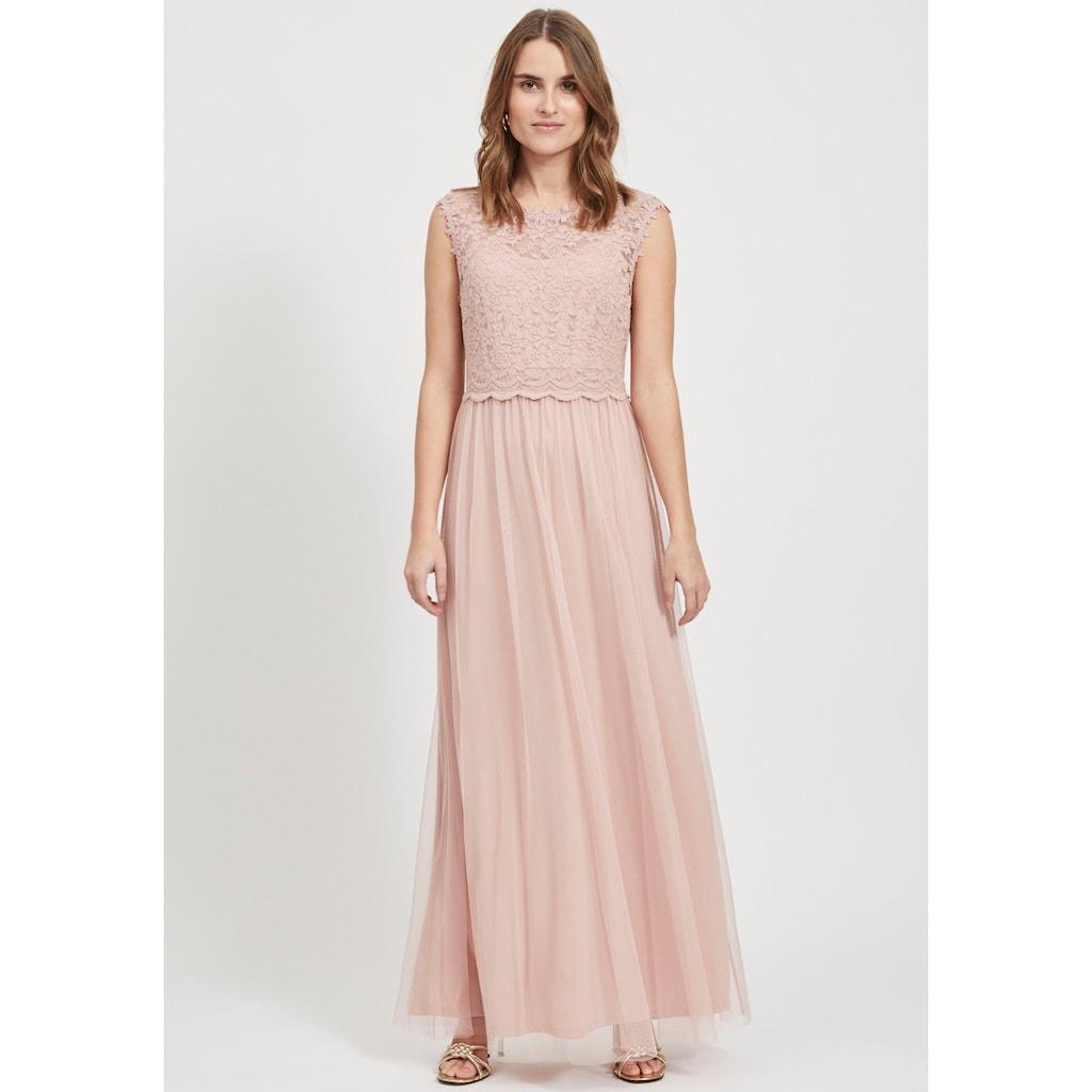 Vila Abendkleid »VILYNNEA«, mit Spitze und tiefem Rückenausschnitt