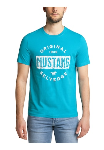 MUSTANG T-Shirt »Alex C Print«, Used-Look kaufen