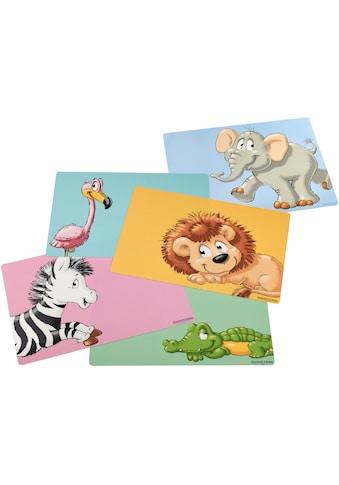 Ritzenhoff & Breker Platzset »Happy Zoo«, (Set, 5 St.), pflegeleichter Kunststoff, mit... kaufen
