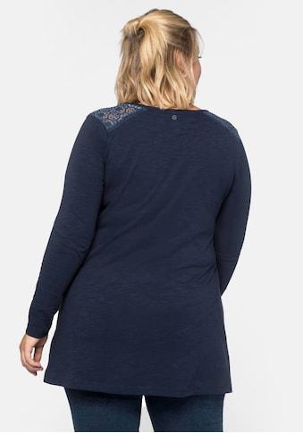 Sheego Longshirt, in weit ausgestellter A-Linien-Form kaufen