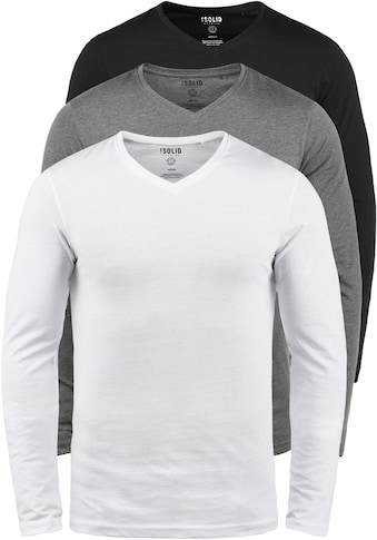 Solid Langarmshirt »Basil«, Langarmshirts im 3er-Pack kaufen
