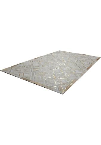 Kayoom Lederteppich »Spark 410«, rechteckig, 8 mm Höhe, Patchwork-echtes Leder-Fell,... kaufen