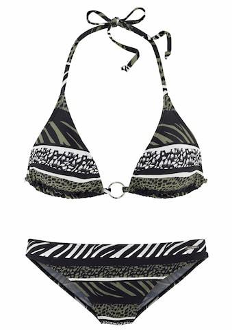 Bruno Banani Triangel-Bikini, im Animaldesign kaufen