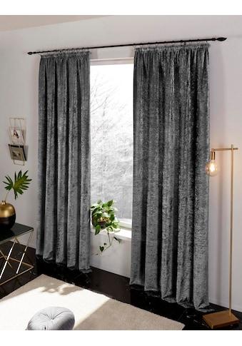 my home Vorhang »Velvet«, Samt Uni kaufen