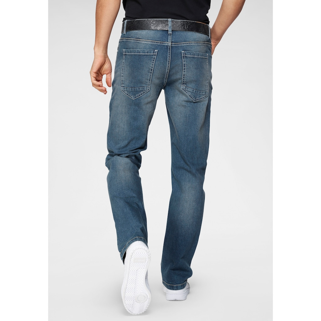 John Devin Straight-Jeans, mit Stretch
