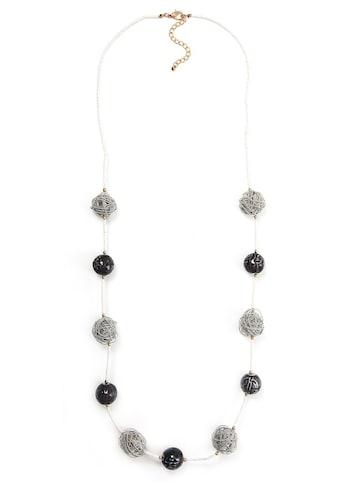 J.Jayz Lange Kette »mit Kugeln, Perlenkette weiss«, mit Keramikperlen kaufen