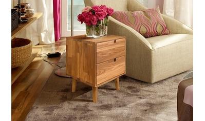 Home affaire Nachtkommode »Scandi«, aus massivem Eichenholz, mit starker Oberfläche,... kaufen