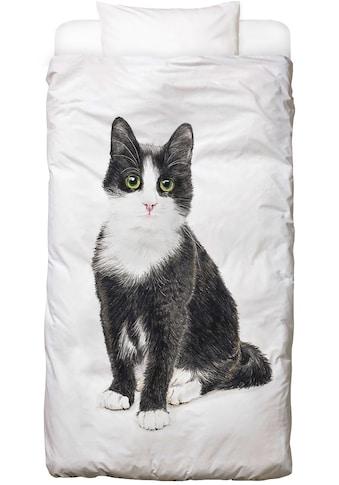 Juniqe Bettwäsche »Katze Murmelauge«, In vielen weiteren Designs erhältlich kaufen