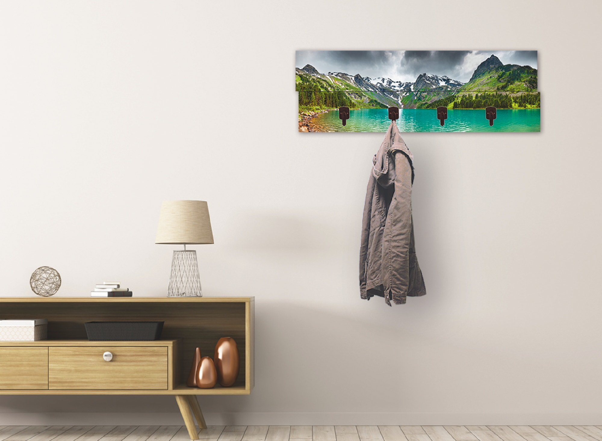 Image of Artland Garderobenpaneel »Bergsee«