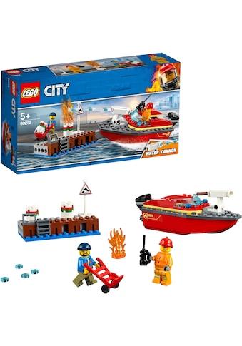 """LEGO® Konstruktionsspielsteine """"Feuerwehr am Hafen (60213), LEGO® City"""", Kunststoff, (97 - tlg.) kaufen"""