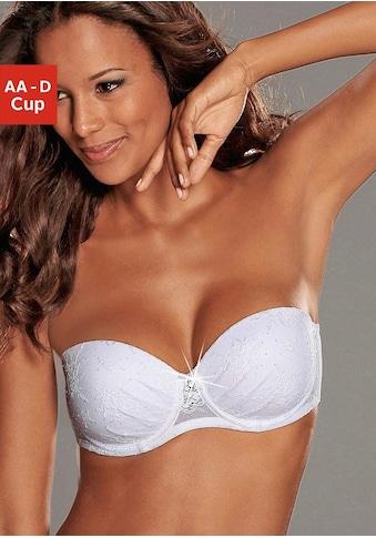LASCANA Push-up-BH »Chelina«, mit Bügel, mit abnehmbaren, normalen und transparenten... kaufen