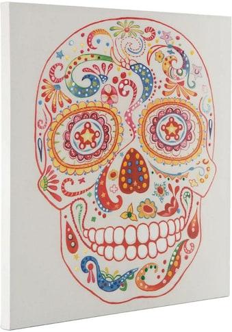 Kayoom Ölbild »Totenkopf«, Abstrakt-Menschen, 90cm x 90cm kaufen