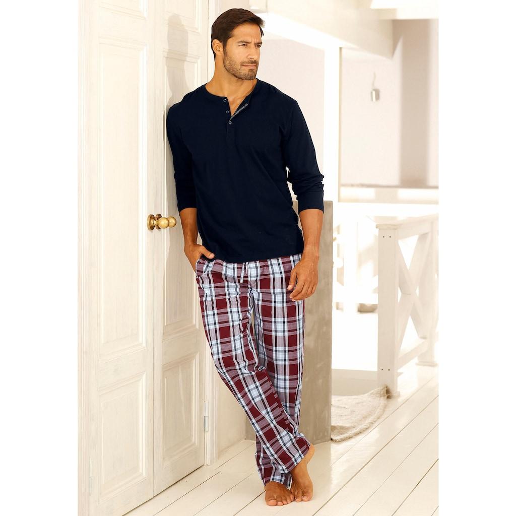 H.I.S Pyjama, in langer Form mit Webhose