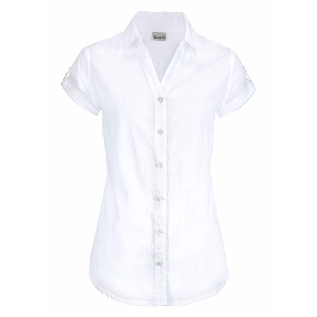 Boysen's Hemdbluse, mit kurzen Ärmeln